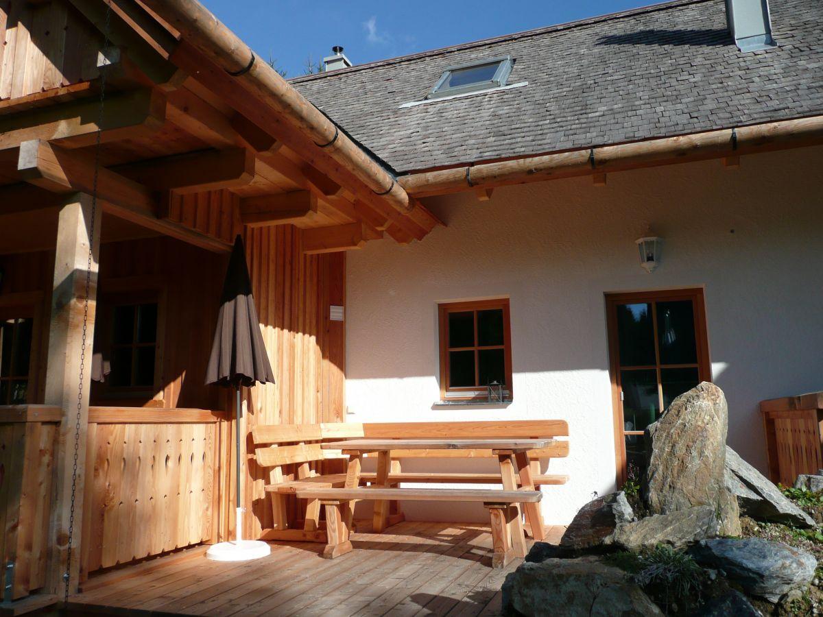 Terrasse Almhütte 55 qm